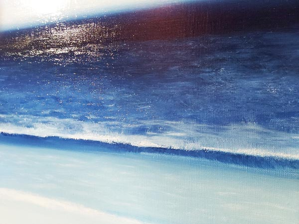 painting of the waves